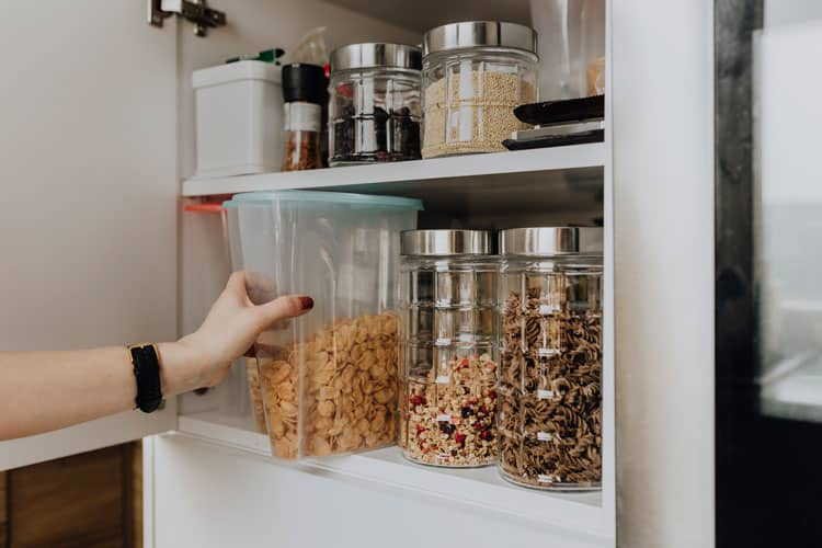 Tidy Dry Goods Stored in Pantry